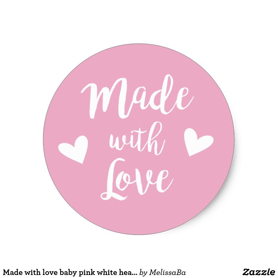 25 unid braguitas Pegatina Sticker aproximadamente Handmade with love-made with Love selbstgemach