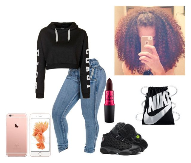 """""""Untitled #212"""" by sykylajakyia ❤ liked on Polyvore featuring Topshop, Retrò and NIKE"""