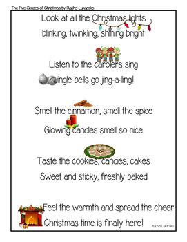 Poems About Christmas Time.The Five Senses Of Christmas Poem Christmas Poems Senses