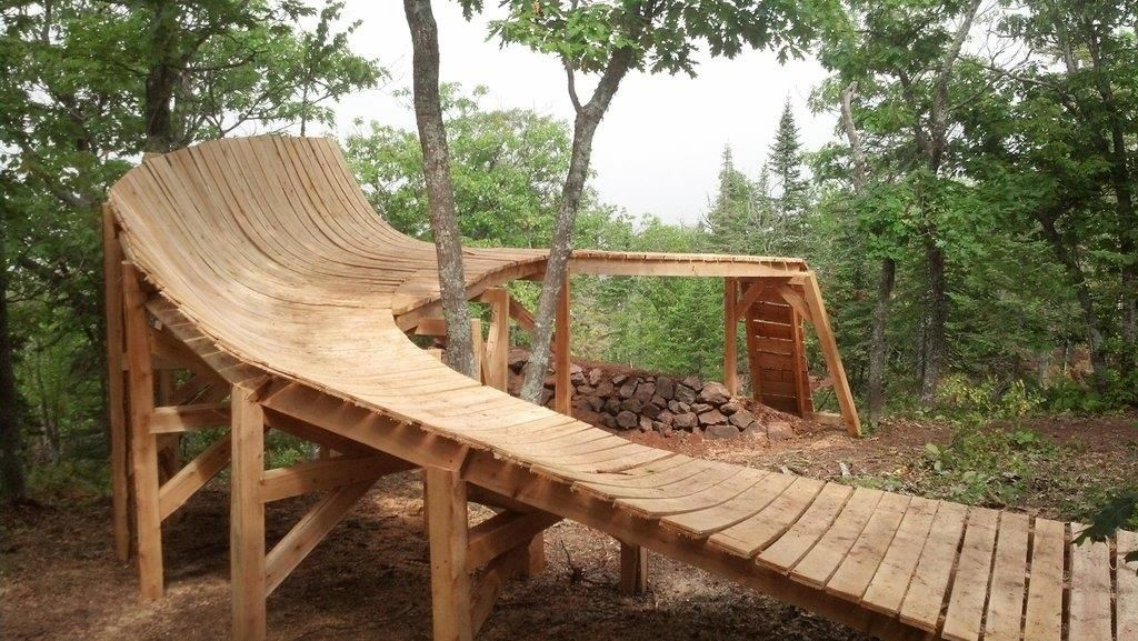Mtb Wood Features Re Curved Wood Features Mountain Bike