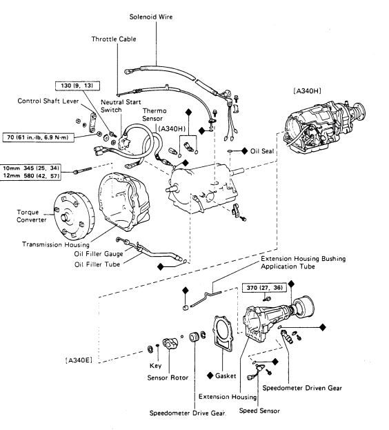 A340e Toyota Transmission Diagram Electrical Circuit Electrical