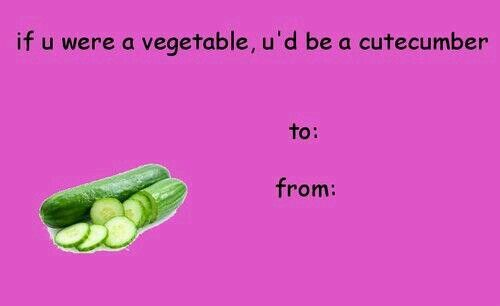 Cucumber Card Funny Valentines Cards Bad Valentines Cards Meme Valentines Cards