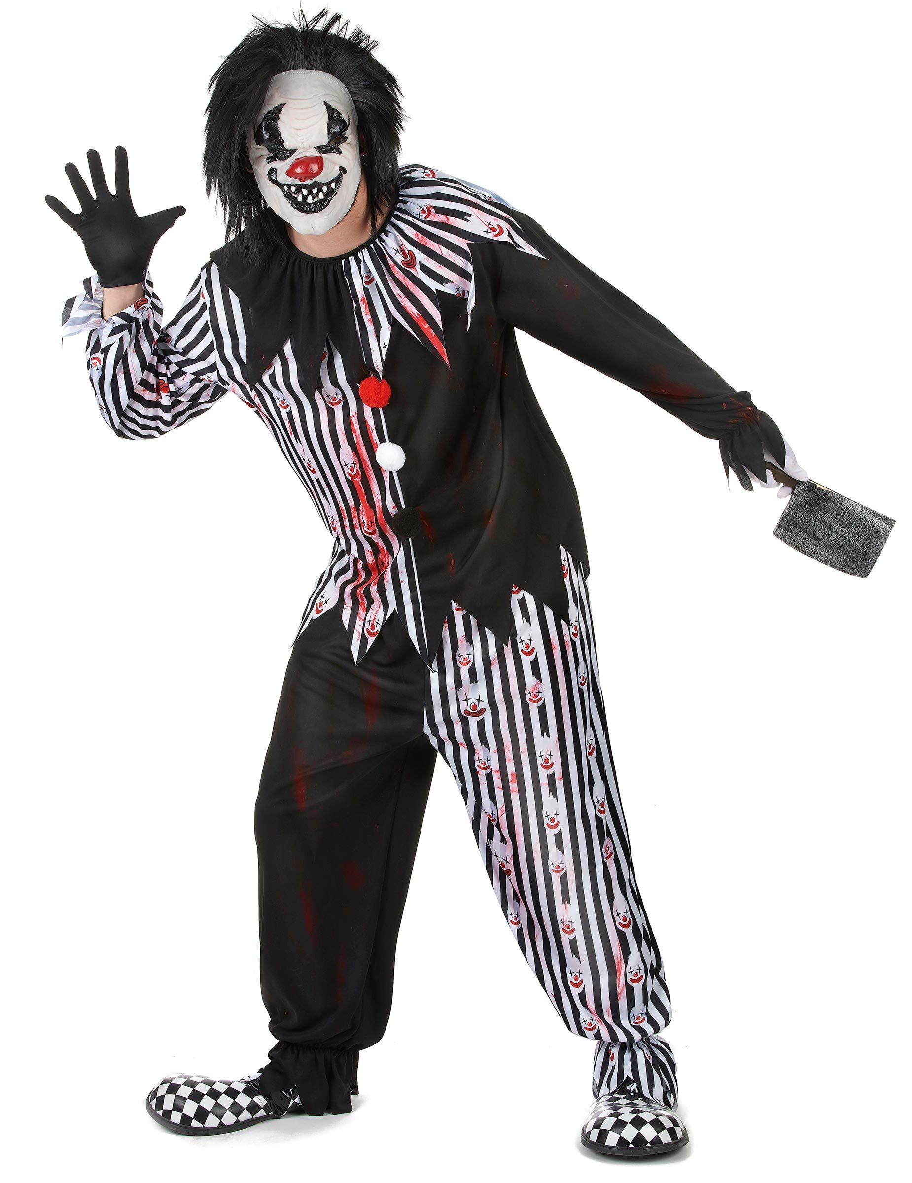 Déguisement Clown Psychopathe Homme Ce Déguisement De Clown Psychopathe Est Pour Homme Et Co Originelle Kostümideen Halloween Kostüm Schwarz Halloween Kostüm