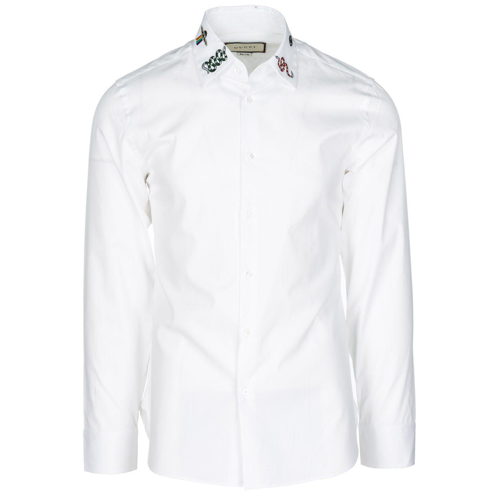 Gucci Gucci Embroidered Collar Shirt Gucci Cloth Gucci Gucci