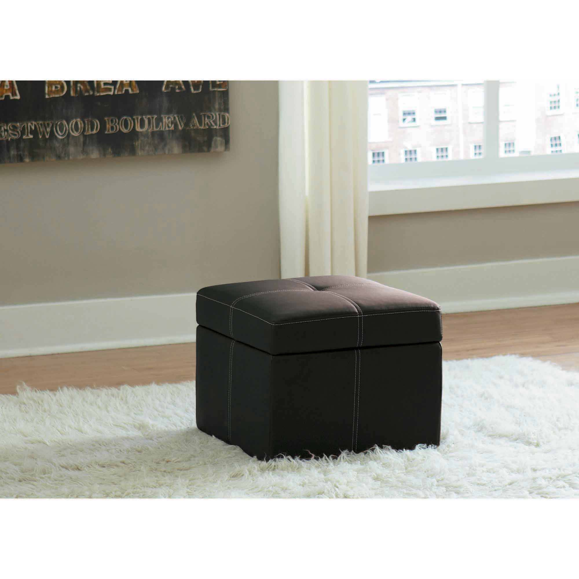 Nice The Delaney Square Storage Ottoman Comes In Square Shape To Embrace Both  Functionality And Style. The Rich Faux Leather Upholstery Of This Storage  Ottoman ...