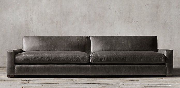 Rh S Maxwell Restoration Hardware Features A Wonderful Selection Of Leather Sofas Created With A Devot Modern Leather Sofa Leather Sofa Leather Sectional Sofas