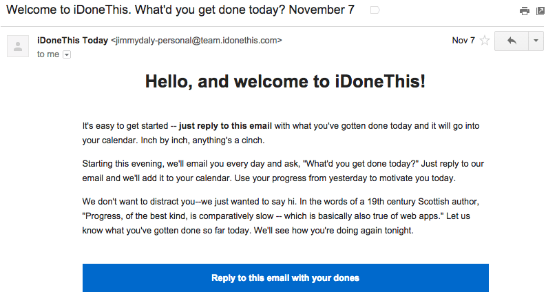 welcoming to the team email