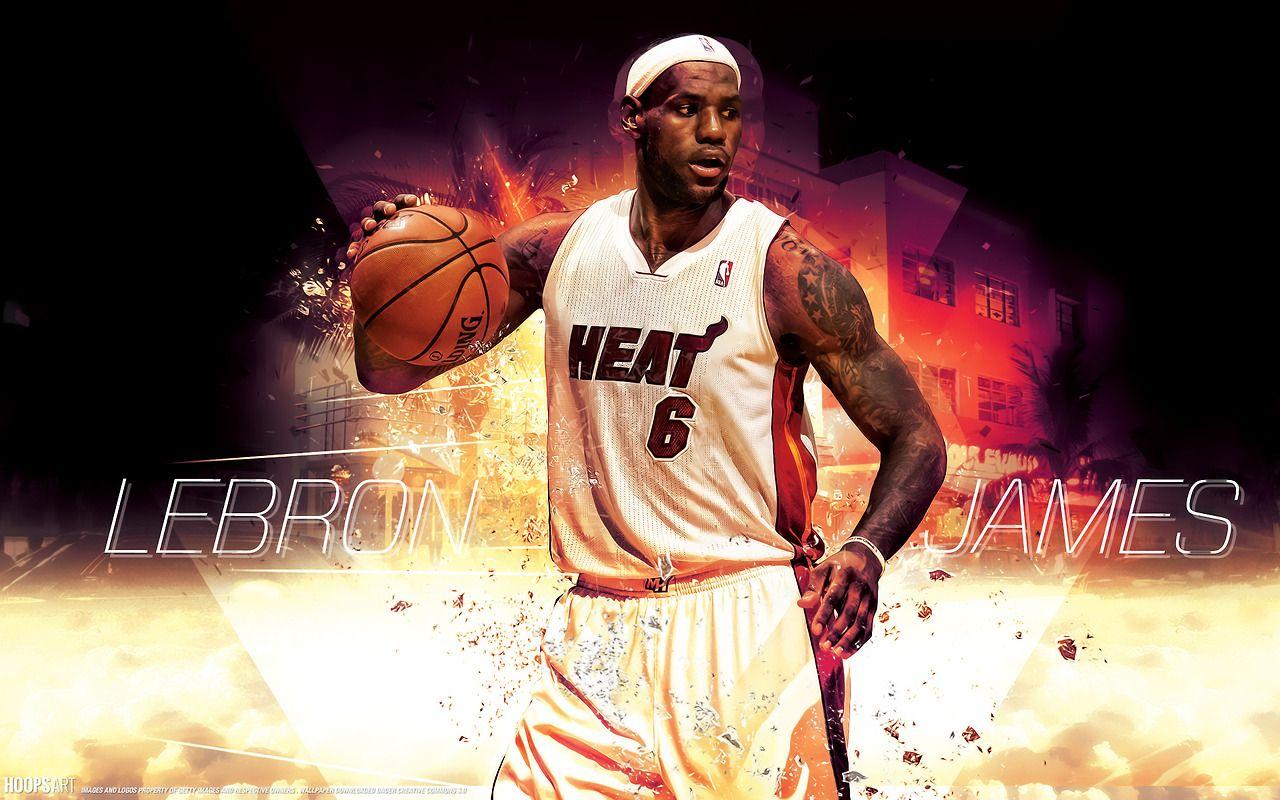 Miami Heat, LeBron James NBA wallpaper from