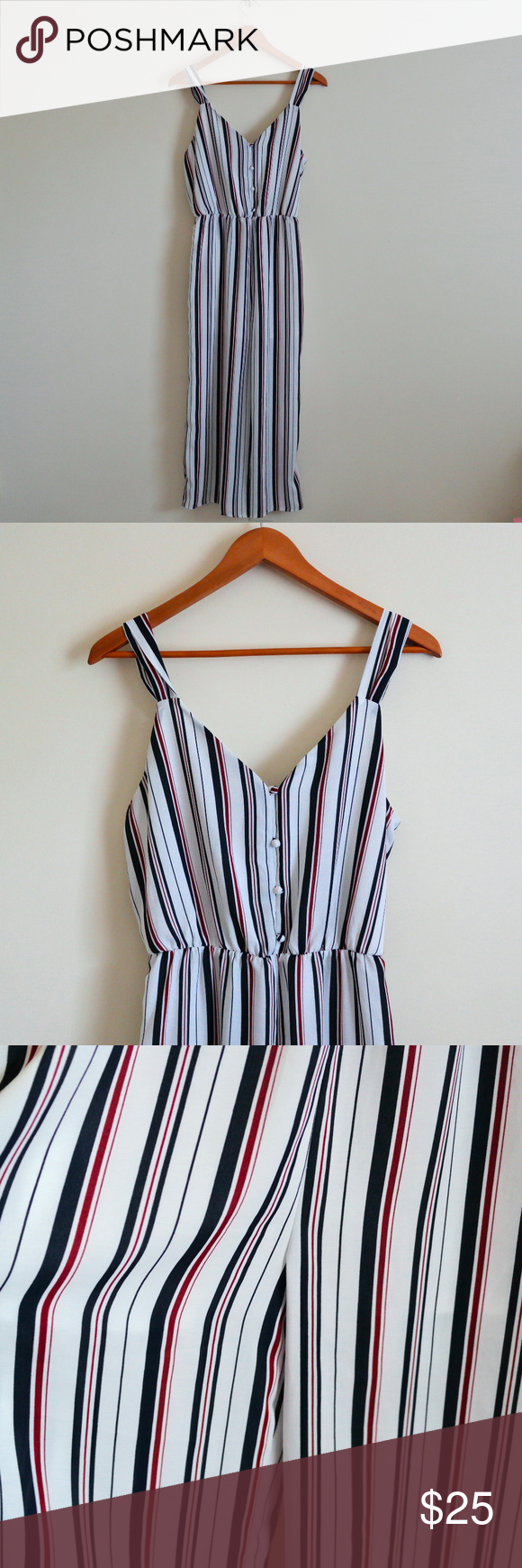 9f86ec255ad5 SIENNA SKY Striped Ribbon Back Jumpsuit I fell in love with this jump suit  this summer
