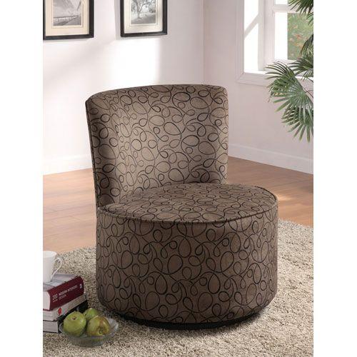 Swirl Print Round Swivel Chair My Bathroom Round