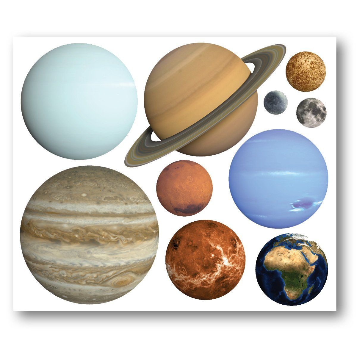 Planet Wall Stickers   Set Of 10 Solar System Stickers   Childu0027s Bedroom  Sticker In Home, Furniture U0026 DIY, Childrenu0027s Home U0026 Furniture, Home Decor