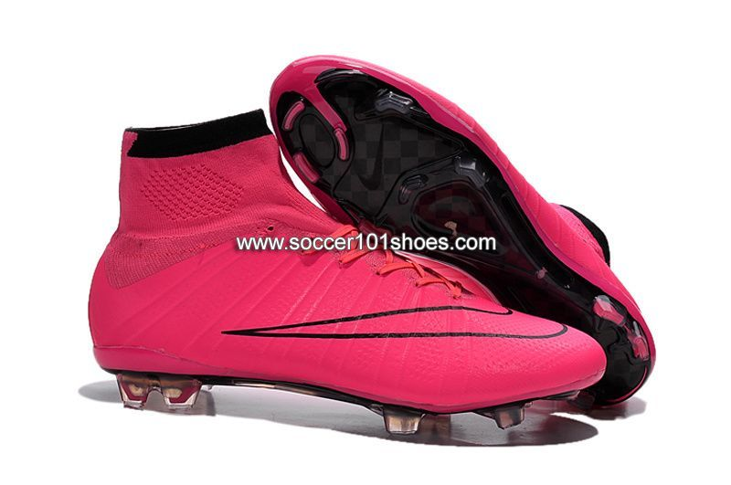3ed5262362 Nike Kids Mercurial X Superfly IV FG High Top Football Shoes Soccer Boots  Bright Pink  63.00