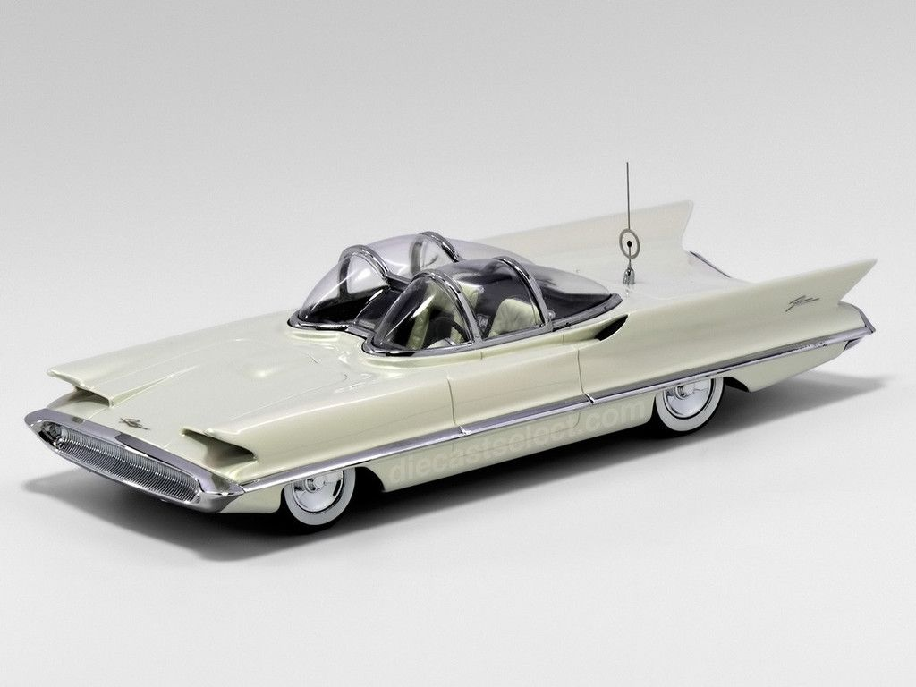 Lincoln Futura Concept Car 1955 White Minichamps 1 43 Resin