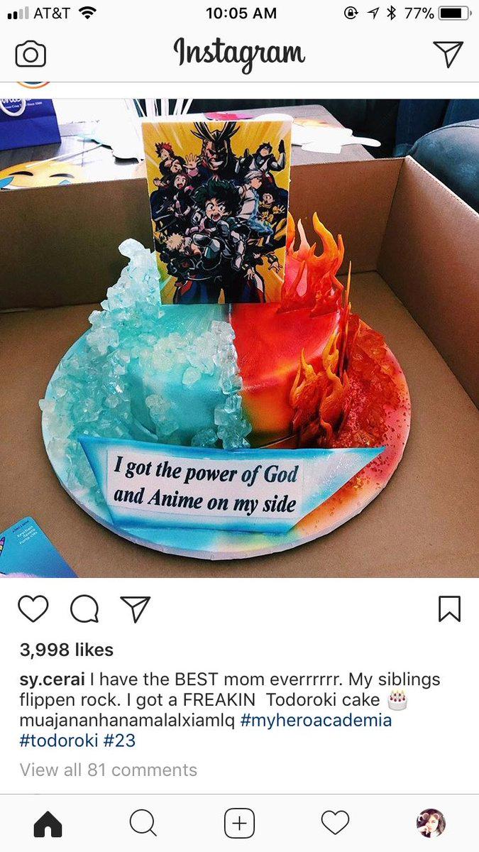 𝖊𝖛𝖎𝖑 𝖍𝖆𝖌🔪♑️ on Anime cake, Amazing cakes, Brithday cake