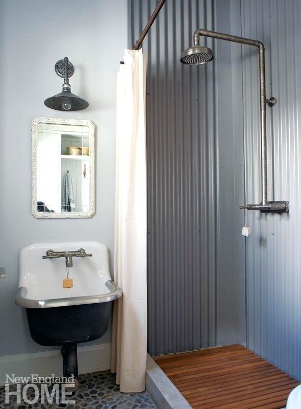 Corrugated Metal Bathroom Corrugated Steel Shower Stall Image Bathroom Corrugated Metal Bathroom Wall Tin Shower Walls Top Bathroom Design Tin Shower