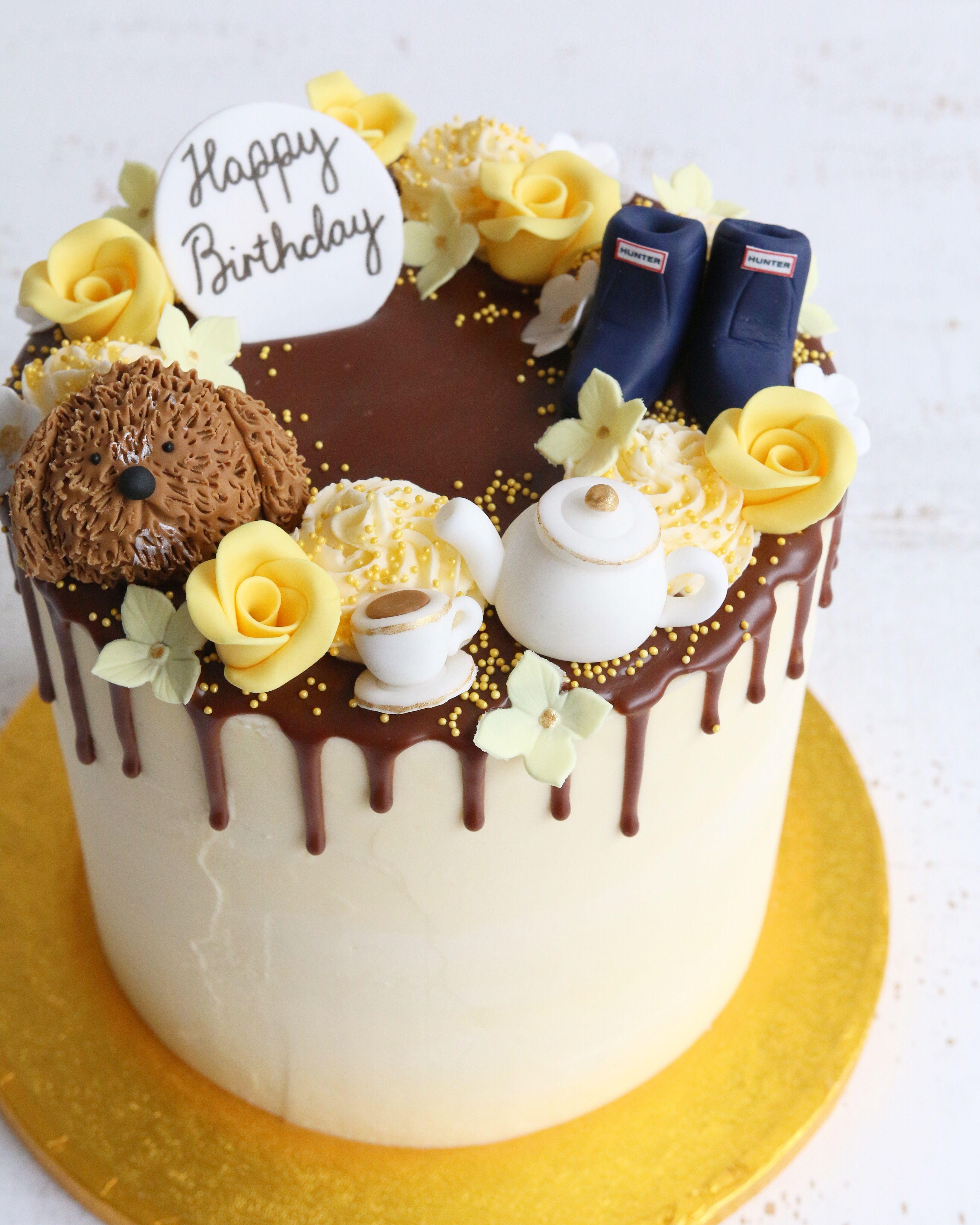17 drip cake Yellow ideas
