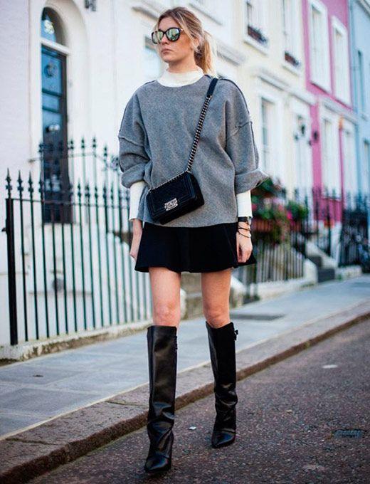 Moda   Moletom Chic com saia