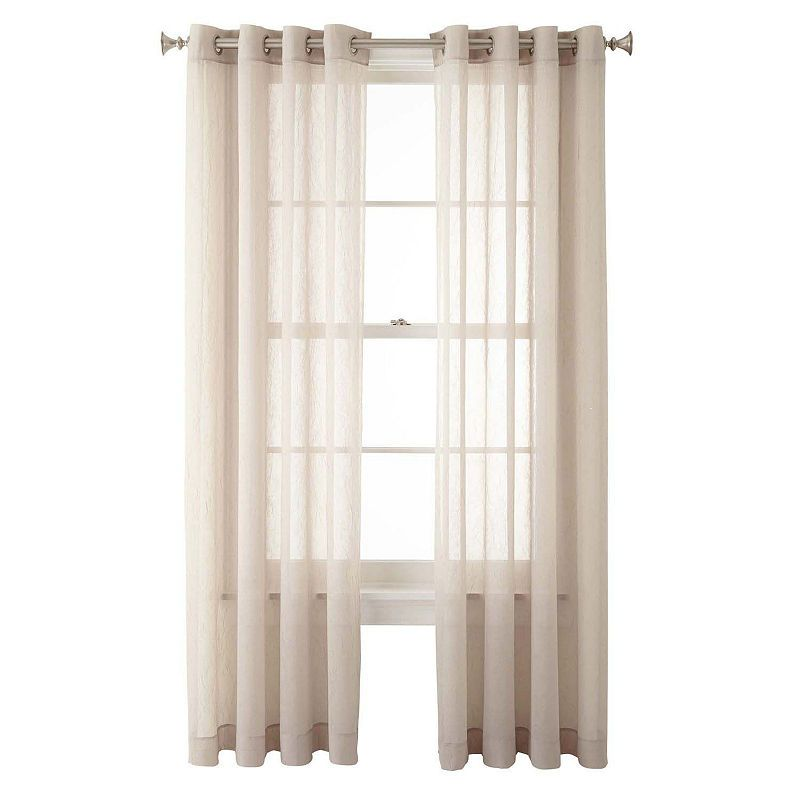 Home Expressions Crushed Voile Grommet Top Sheer Curtain Panel