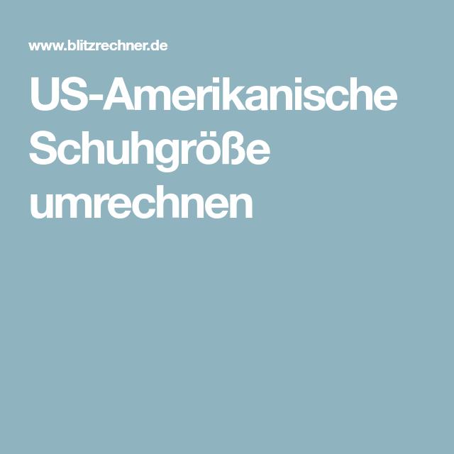 US Amerikanische Schuhgröße umrechnen | Schuhgrößen