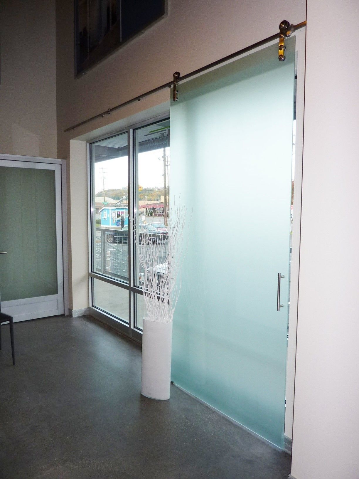 products office glass frameless doors with barn barns the sliding door for