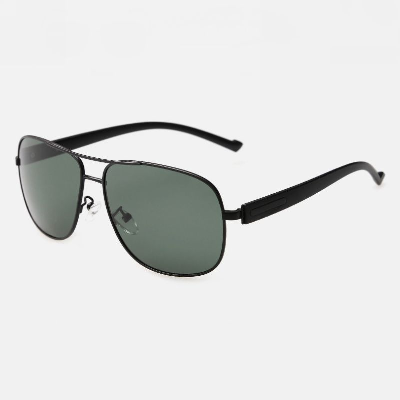 57mm Polarized Pilot Sunglasses TR90 Temple Black/Dark Green