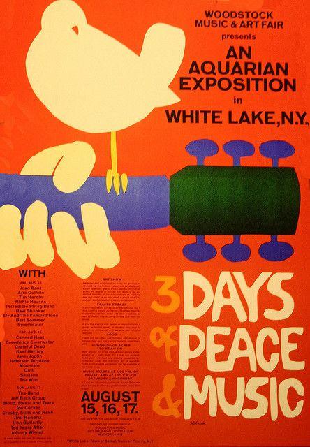 Woodstock Music Festival 1969 Woodstock Poster Woodstock Music