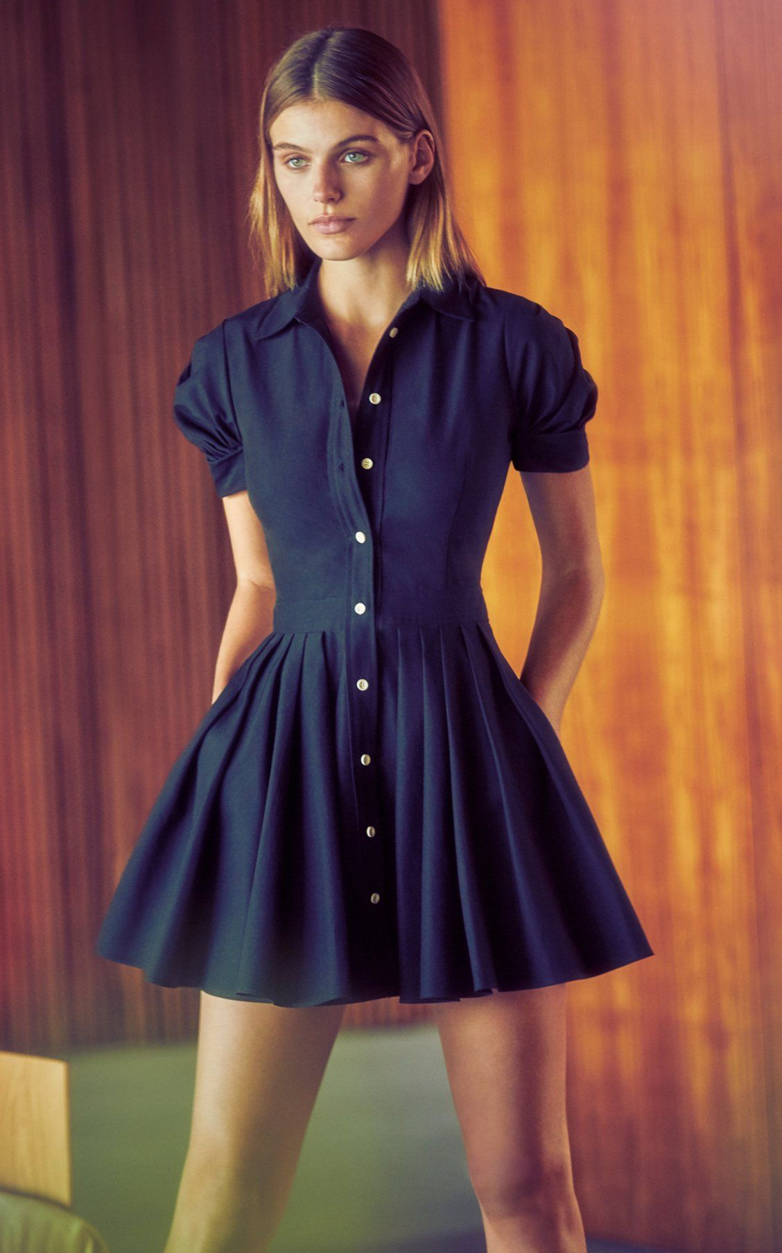 f8fcdcf65 April Pleated Cotton-Blend Mini Dress by Alexis Spring Summer 19 ...