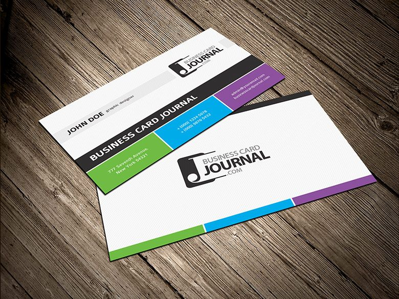 Free tricolor business card template free business cards free tricolor business card template wajeb Gallery