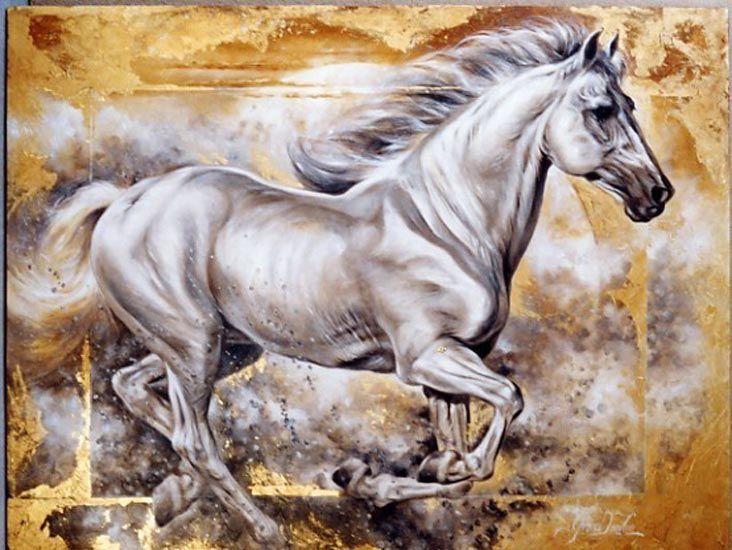 рисунки красивых лошадей картинки бело-голубые после таких