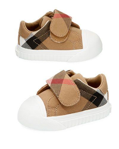 Burberry Beech Check Sneaker, Beige