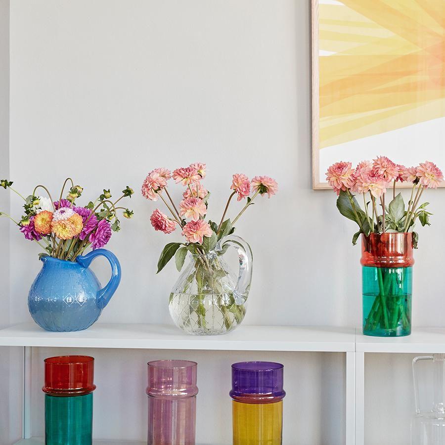 Idee Deco Pour Grand Vase Transparent hay moroccan vases | vase, recycled glass, scandinavian design