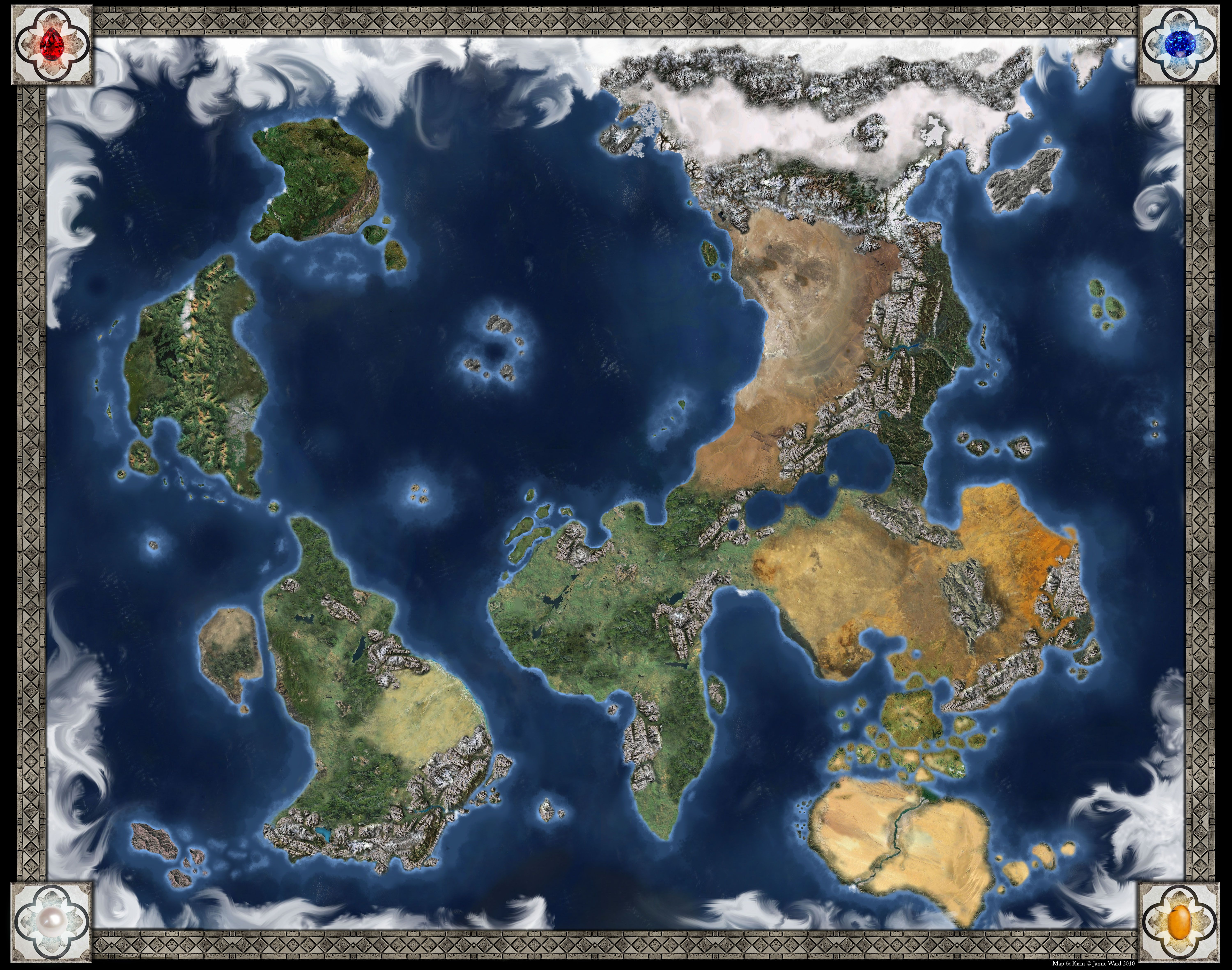 Pin by auden johnson fantasy author on world building map making dd world map kirin gumiabroncs Images