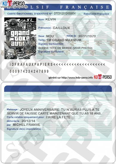 Creer Votre Fausse Carte D Identite Humoristique Personnalise A Imprimer Carte D Identite Carte Francaise Carte