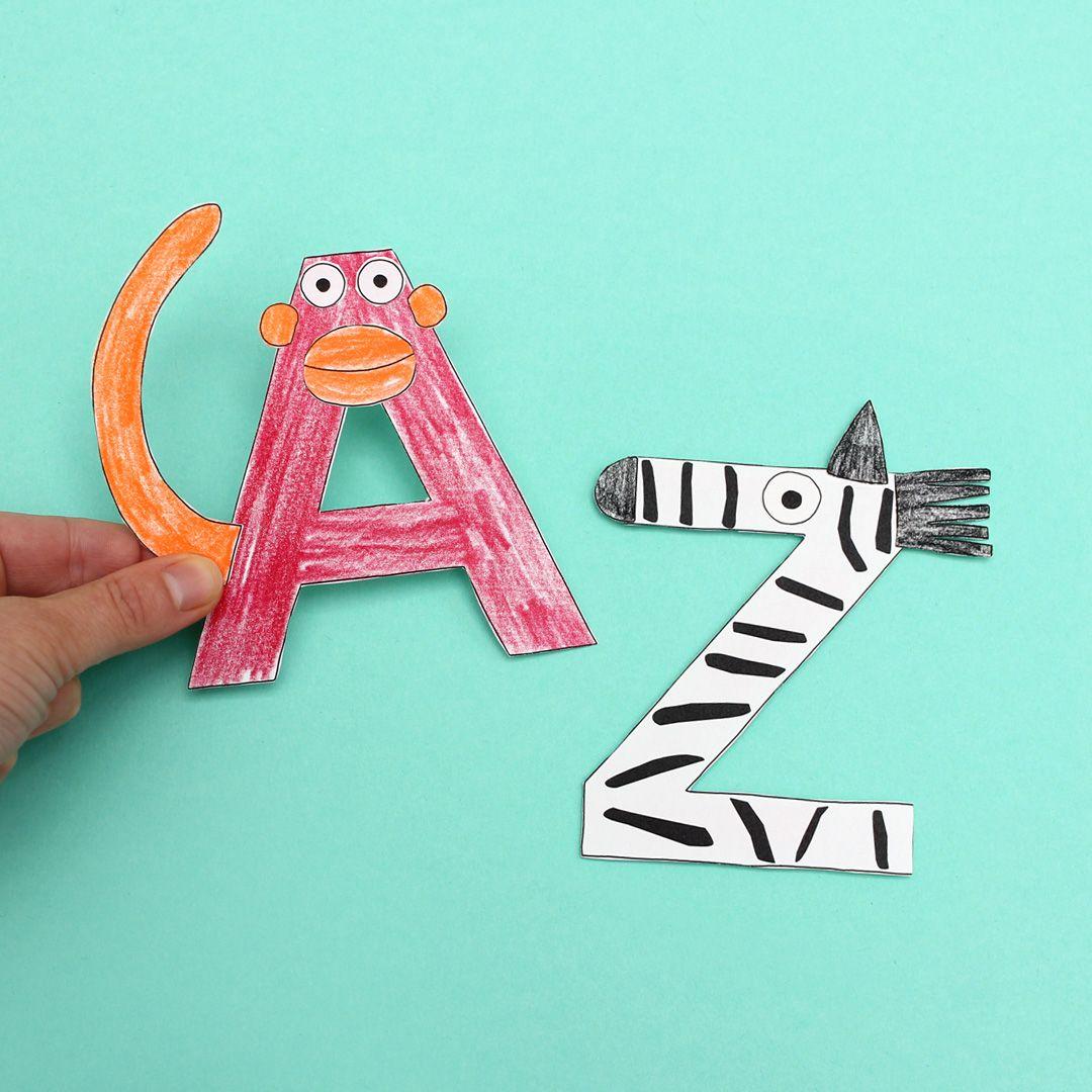 tieralphabet  labbé blog  alphabet basteln alphabet