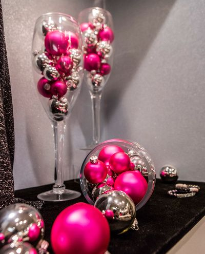 Pink  Silver Christmas Decorations at Jody G Boutique in Virginia