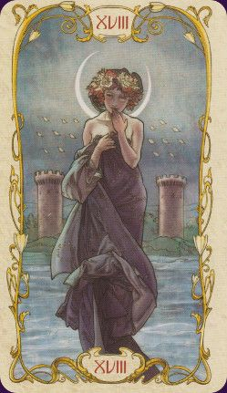 Tarot Mucha deck-beautiful image. I have a poster of this drawing on the wall.