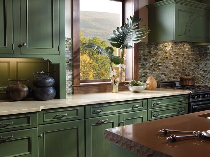 Cream Countertop Green Cabinets Changed Again This Feeling
