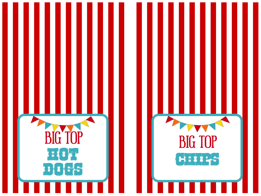 We Heart Parties Free Printables Big Top Circus Party Free Printables Circus Party Circus Carnival Party Circus Theme Party