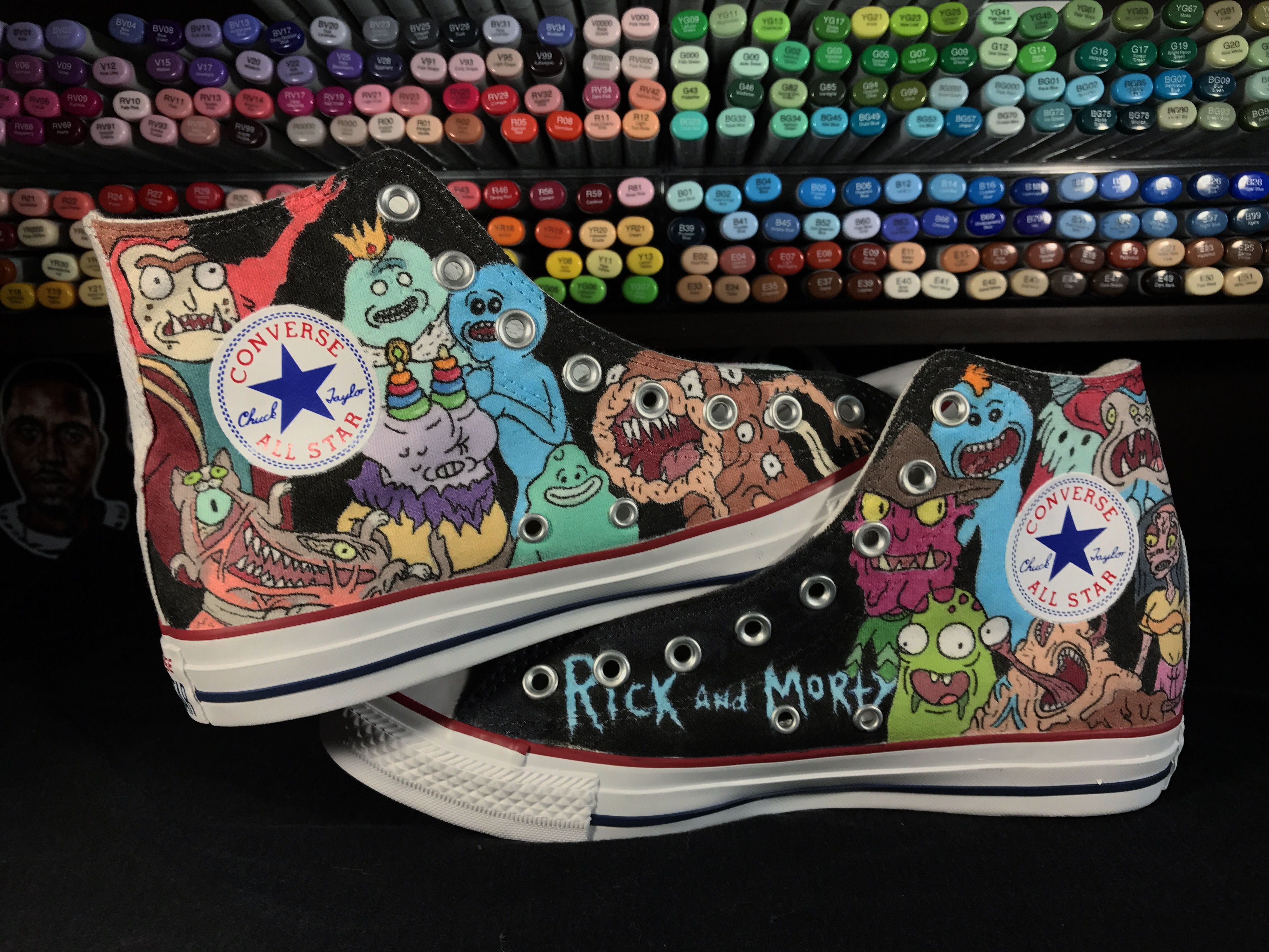 a7a1a807ec9adc Custom Rick and Morty Converse