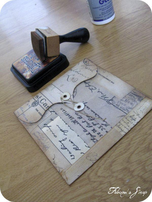 pour tes beaux yeux le scrap de fabinou tutoriel pour cr er une enveloppe fermeture. Black Bedroom Furniture Sets. Home Design Ideas
