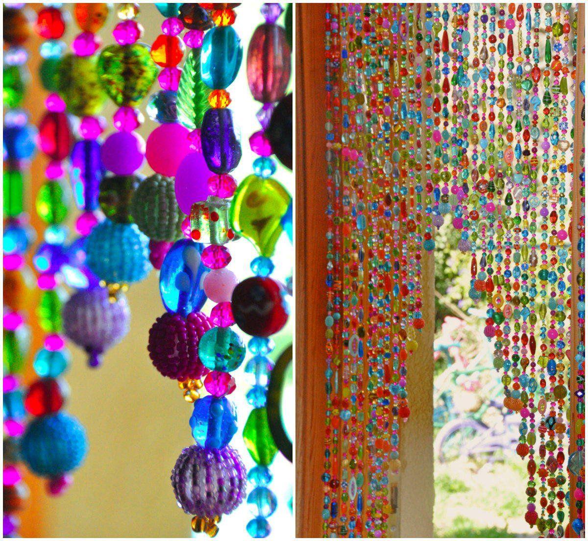 Ha hanging bead curtains for doorways - Beaded Curtain Hanging Beads Bohemian Curtain Boho Doorway Decor Beaded Door Curtains Hanging Door Beads Doorway Bead Door Beads
