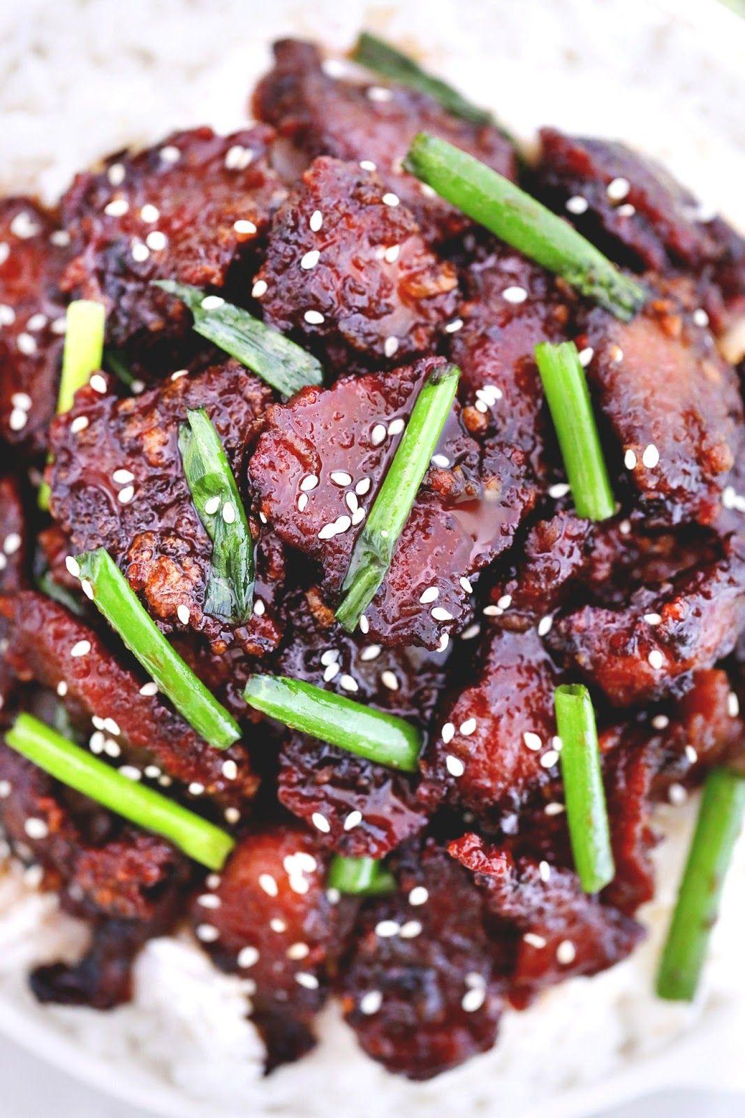 Easy Crispy Mongolian Beef Recipe In 2020 Mongolian Beef