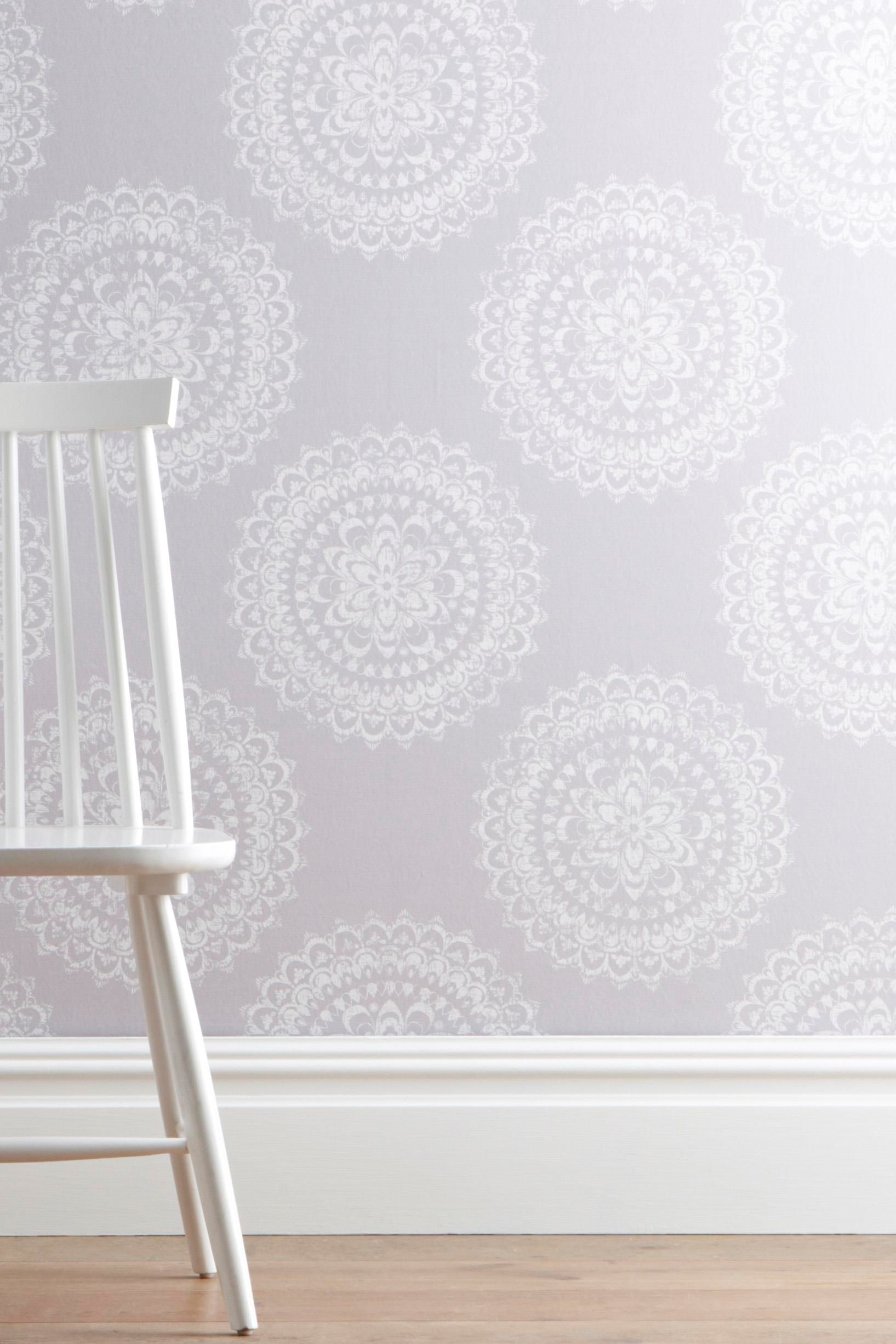 Buy Blue Creswell Floral Wallpaper from the Next UK online shop ...