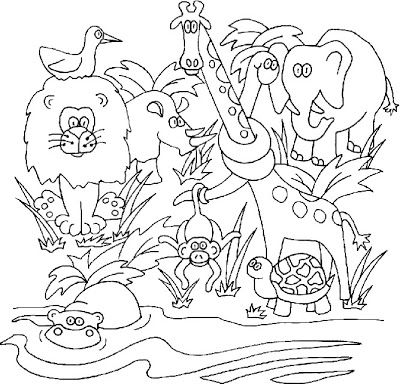 Jungle Kittens Eyes Lighthouse Animal Coloring Pages Coloring