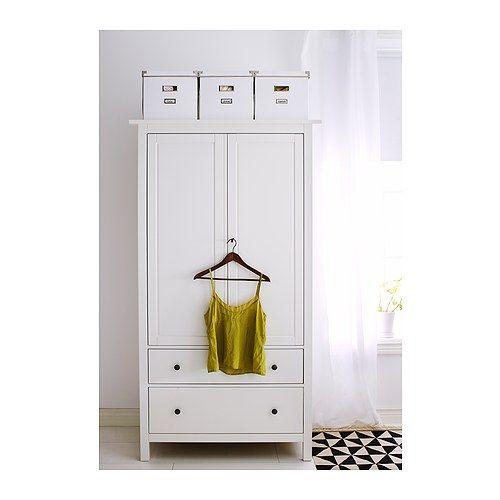 HEMNES Kleiderschrank IKEA Leichtgängige Schubladen mit ...