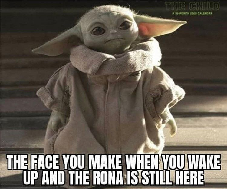 Baby Yoda On Instagram Follow Babyyodaitmemes For More Credit Facebook Yoda Meme Yoda Funny Memes