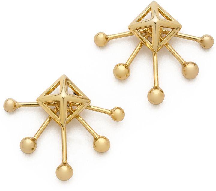 Rebecca Minkoff pyramid fan Stud earrings @RebeccaMinkoff