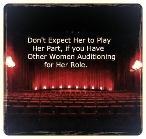 Don T Expect Her To Play Her Part If You Have Other Women