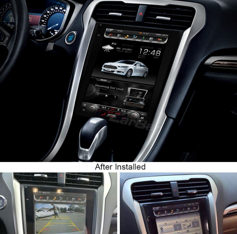 12 1 Tesla Style Vertical Screen Android Navigation Radio For Ford Fusion Mondeo 2013 2014 2015 Ford Fusion Ford Fusion Custom Ford Fusion Accessories