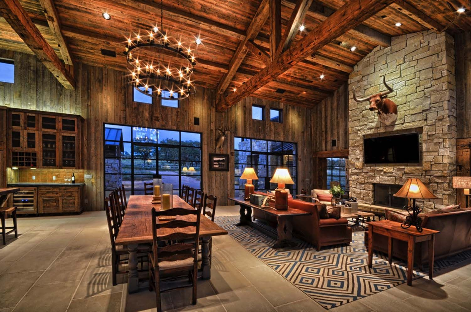 Modern-rustic barn style retreat in Texas Hill Country ...